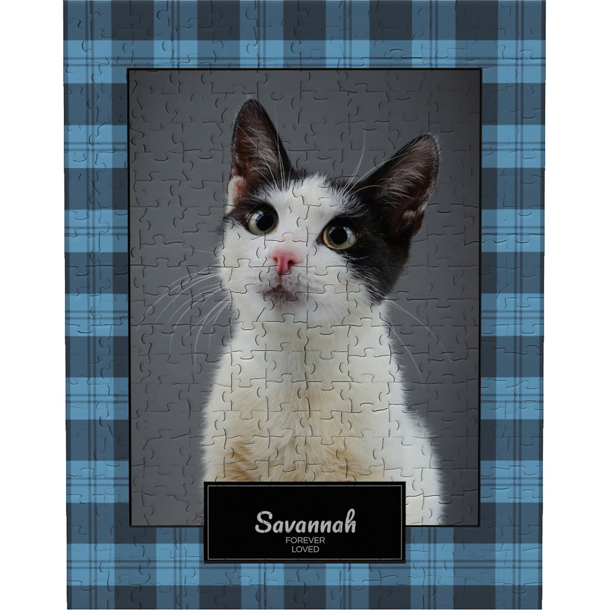 Frisco personalized plaid photo puzzle