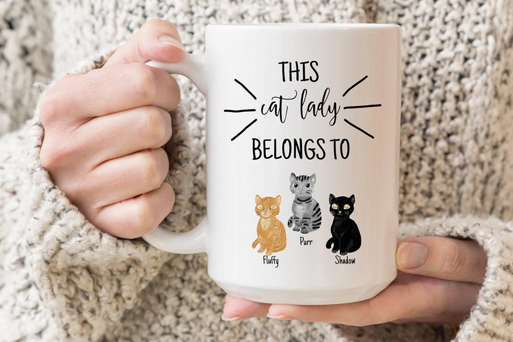 custom cat mom mug