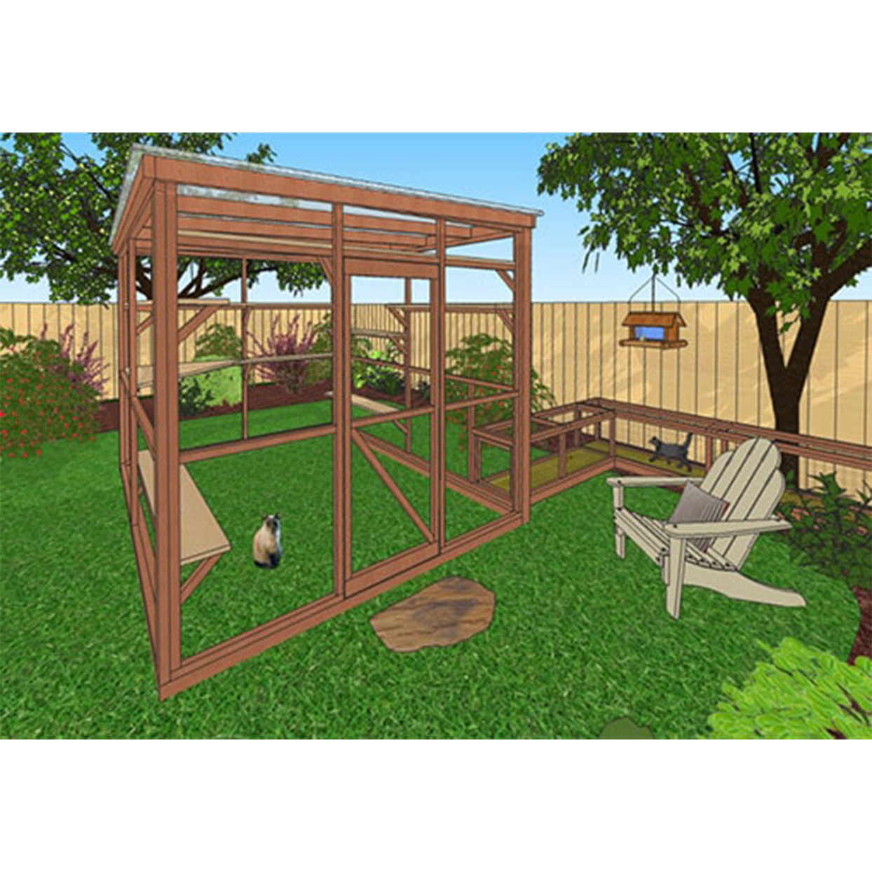 catio and tunnel plans