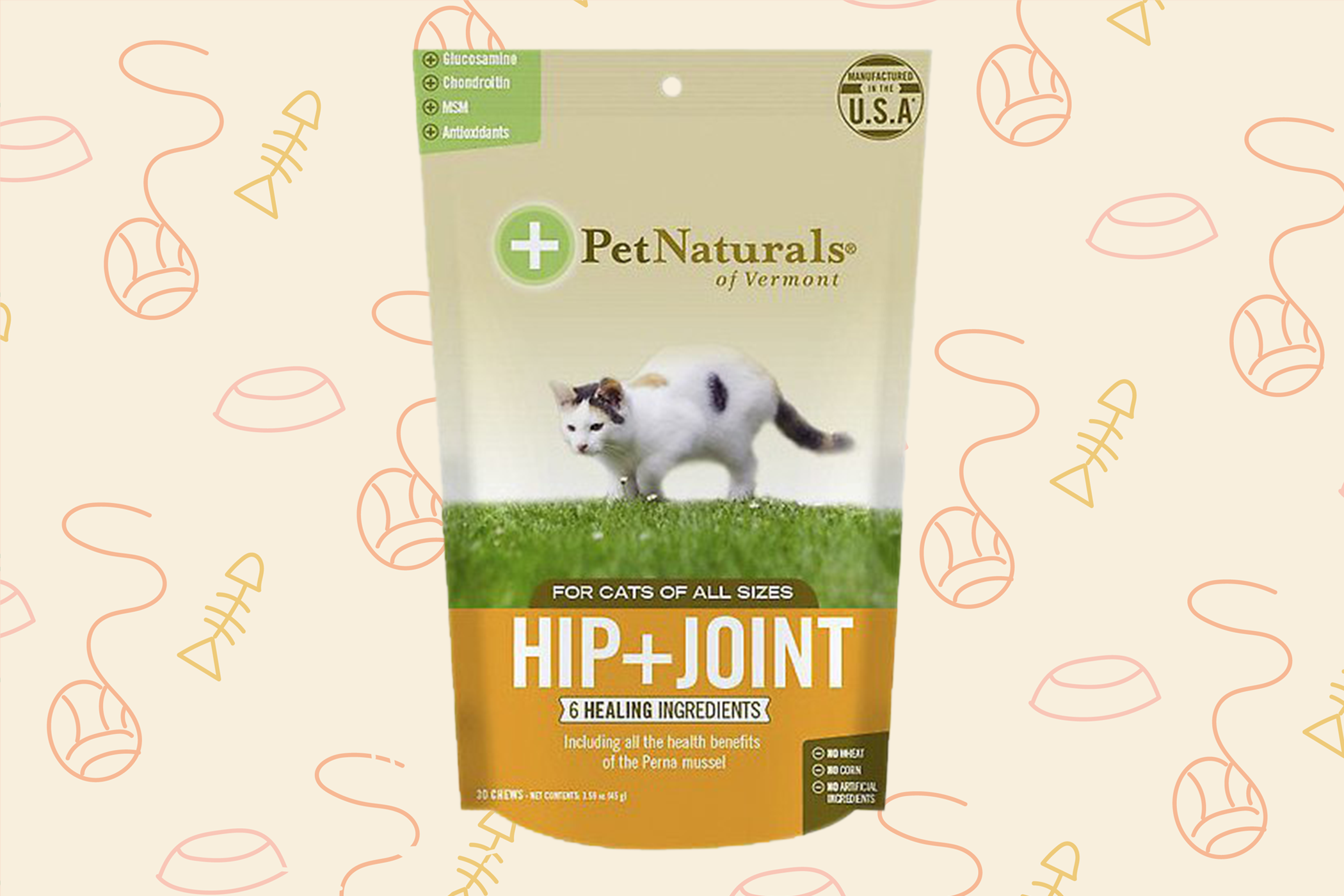 bag of cat joint supplements