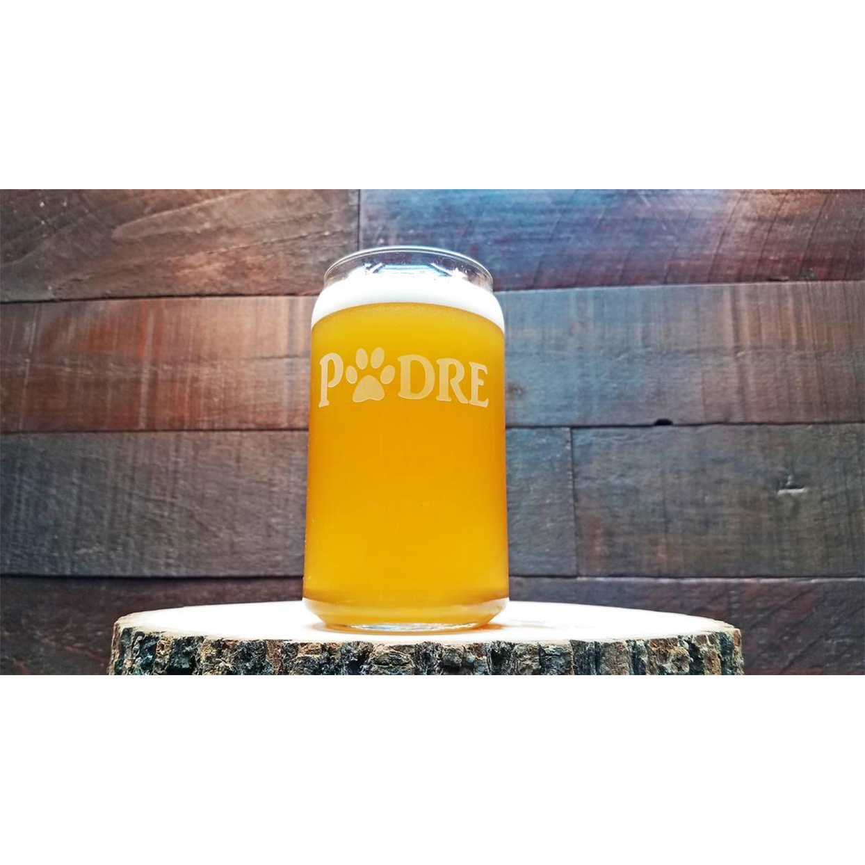 Padre beer can glass