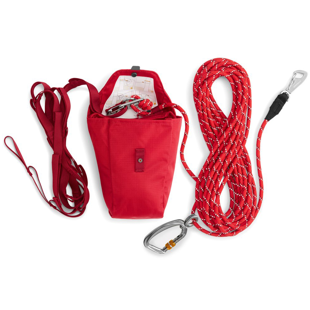red ruffwear knot-a-hitch campsite dog-hitching system
