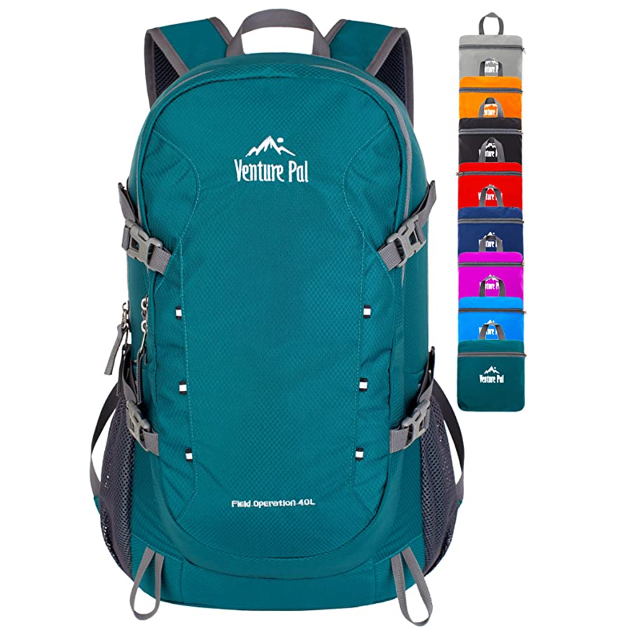 Turquoise Venture Pal Lightweight Packable Travel Hiking Backpack
