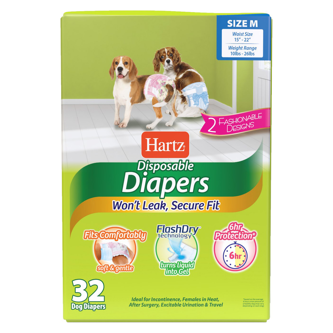 Hartz Disposable Male & Female Dog Diapers