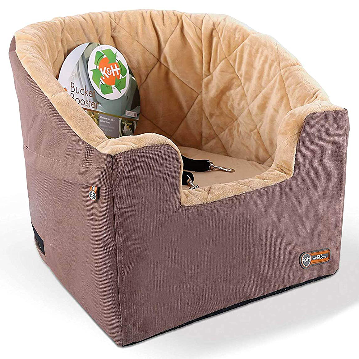 Photo of a K&H Pet Products Small Bucket Booster seat on a white background