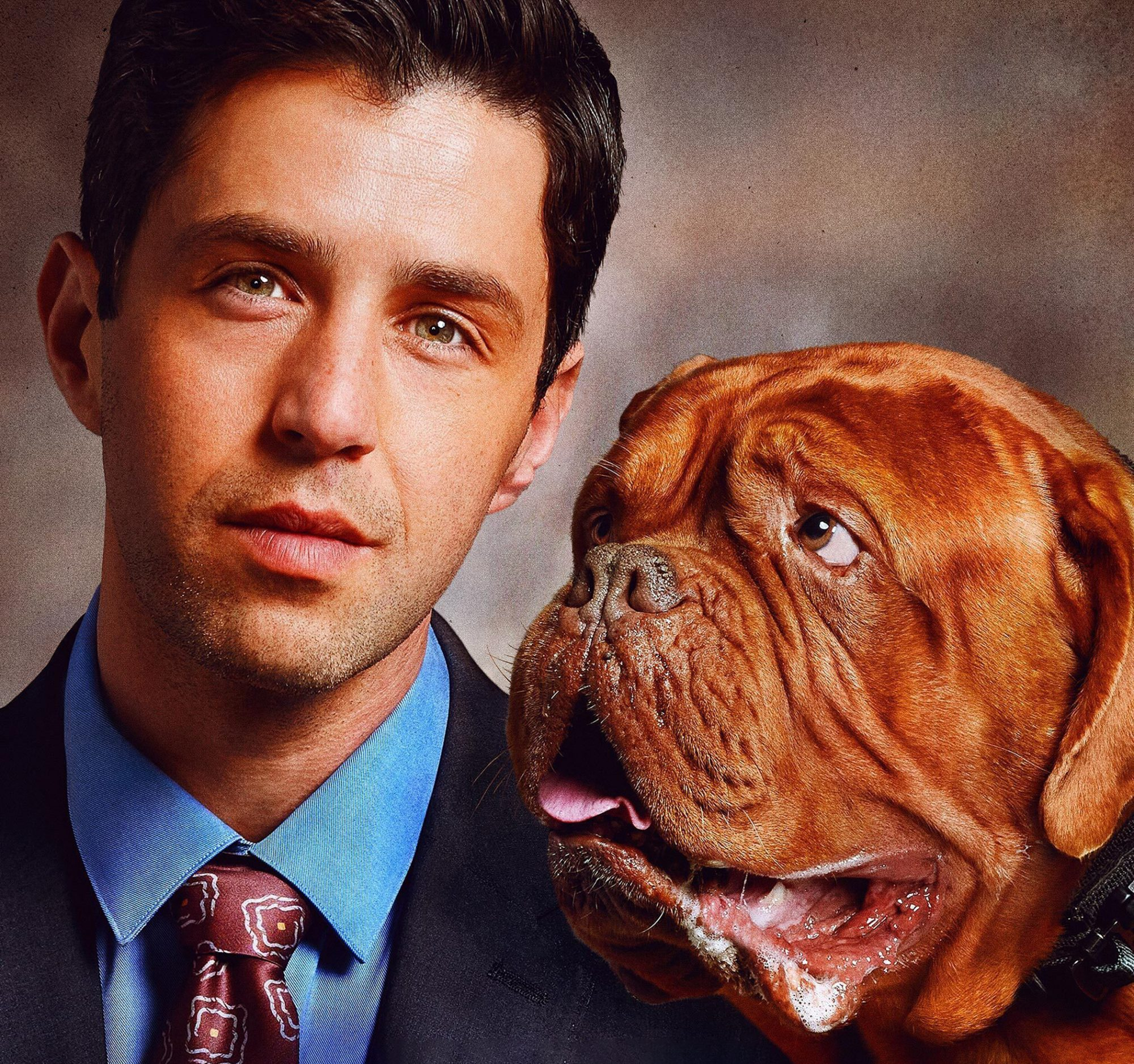 Josh Peck with Hooch for Turner and Hooch