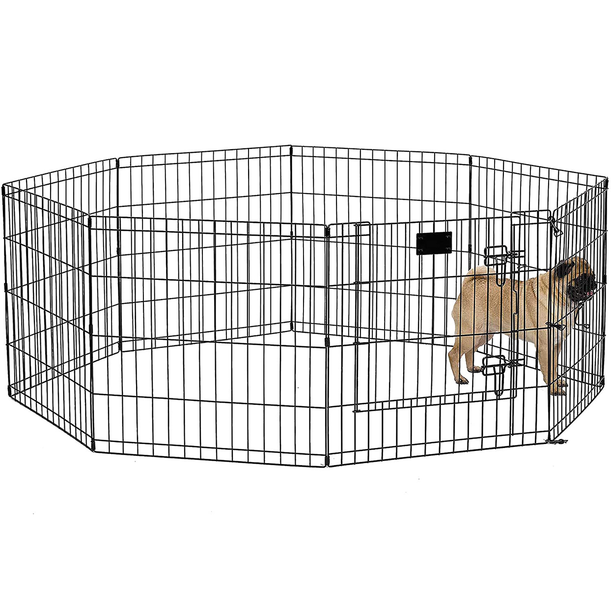 MidWest Foldable Metal Dog Exercise Pen on a white background