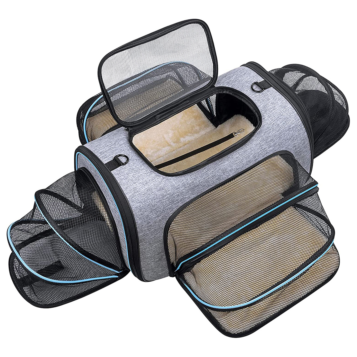 Siivton 4 Sides Expandable Pet Carrier on a white background