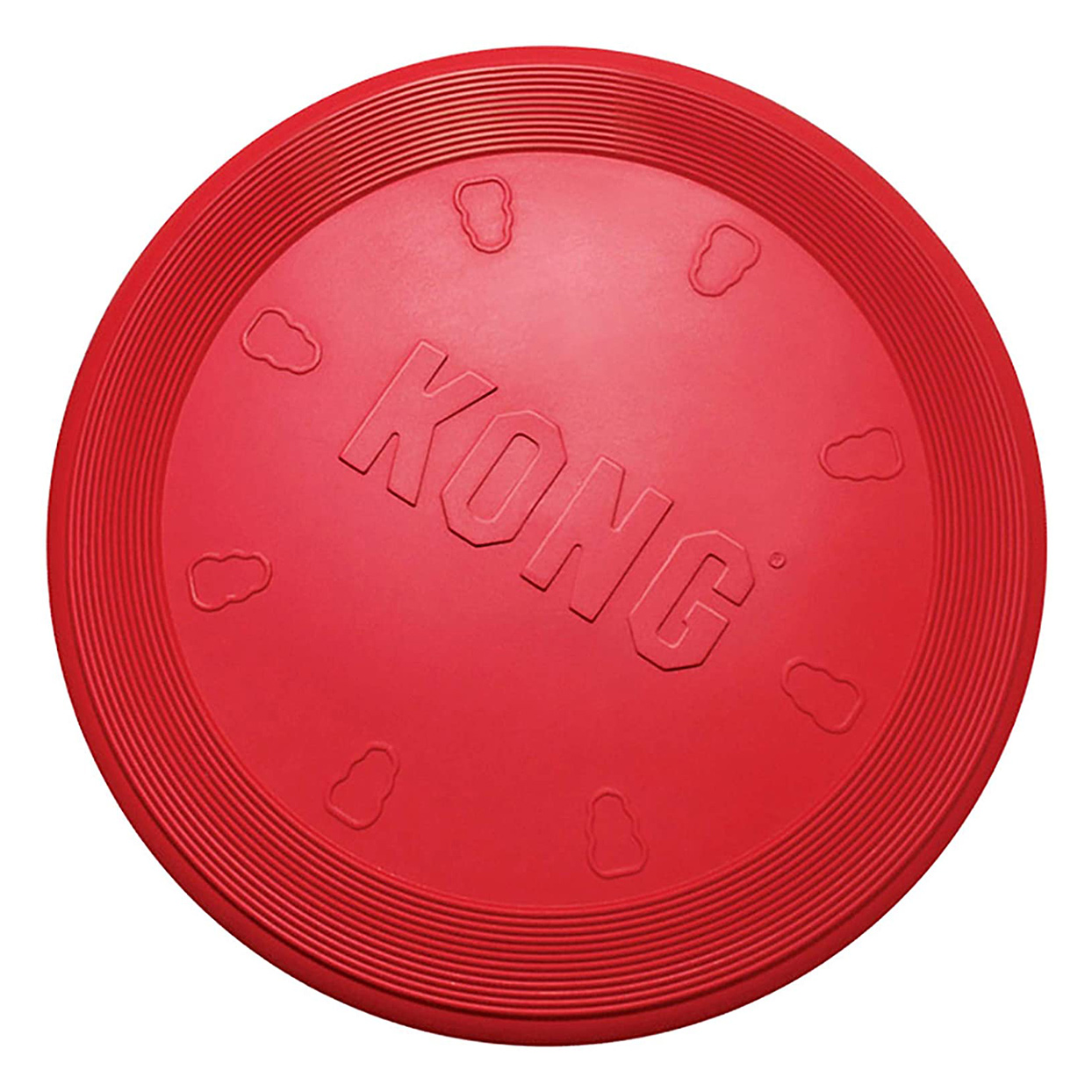 Red Kong Flyer toy on a white background