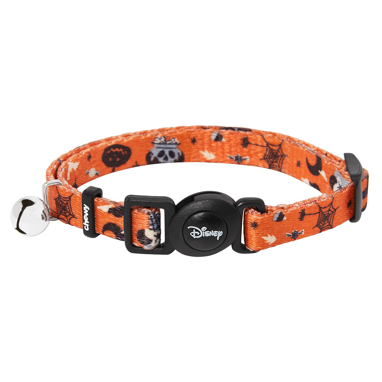Disney Minnie Mouse Halloween Cat Collar on a white backround