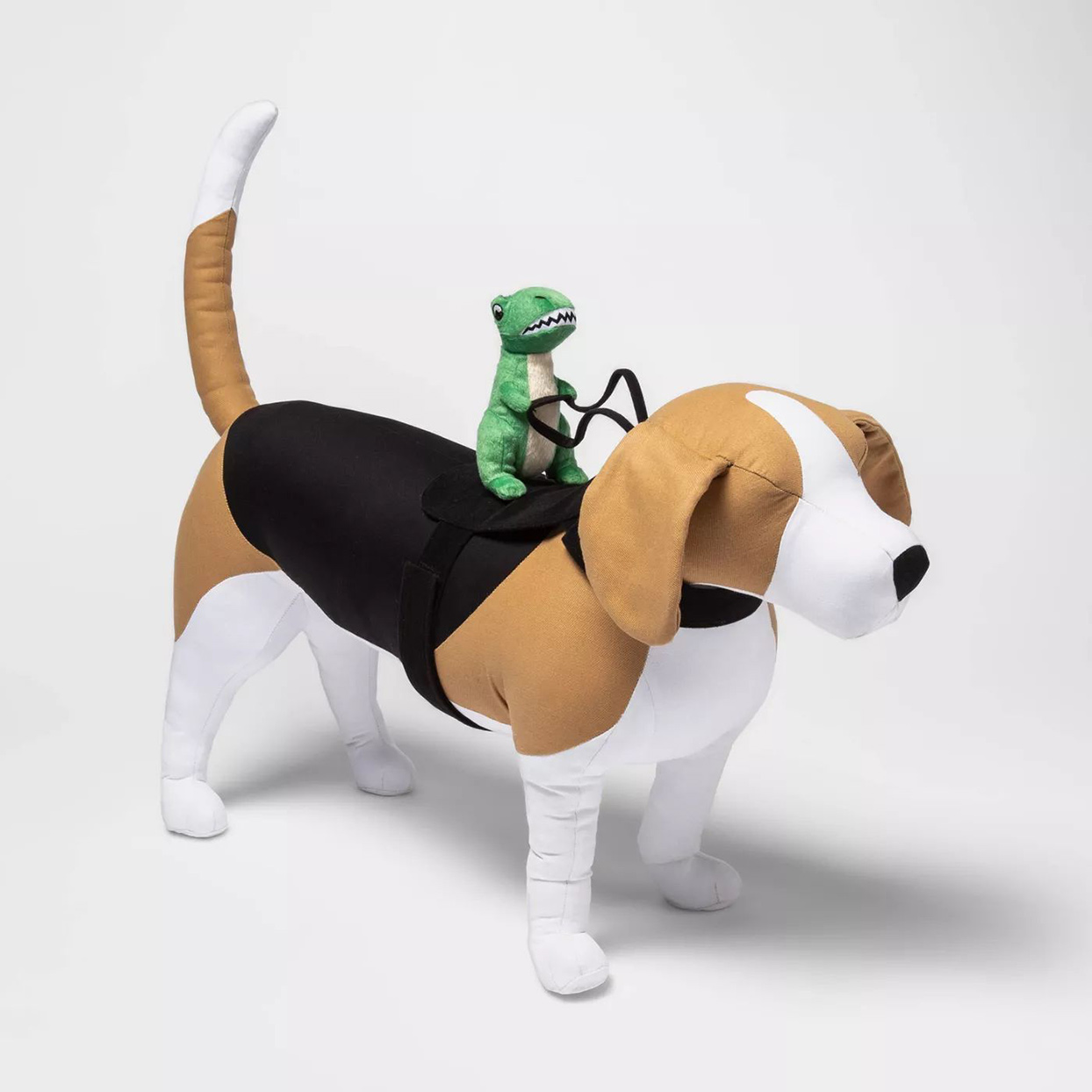 Hyde & EEK! Boutique™ Dino Rider Dog and Cat Costume on a white background