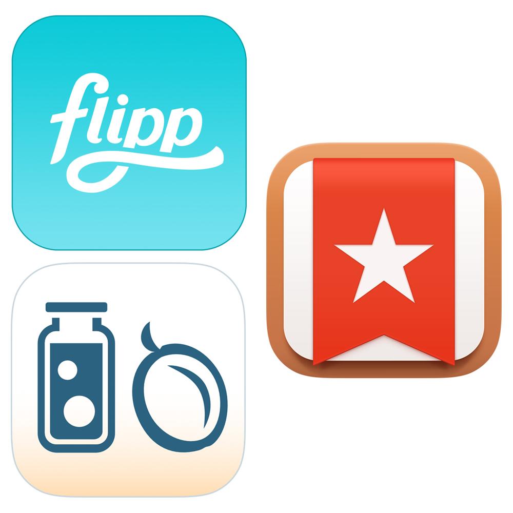 flipp wunderlist pantry check app icons