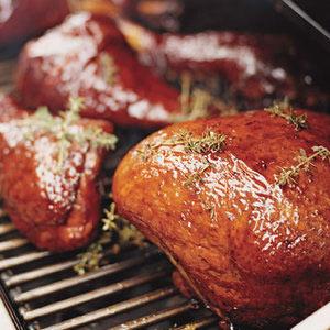 Adam's Bourbon-Glazed Barbecue Turkey