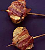 bacon wrapped persimmon