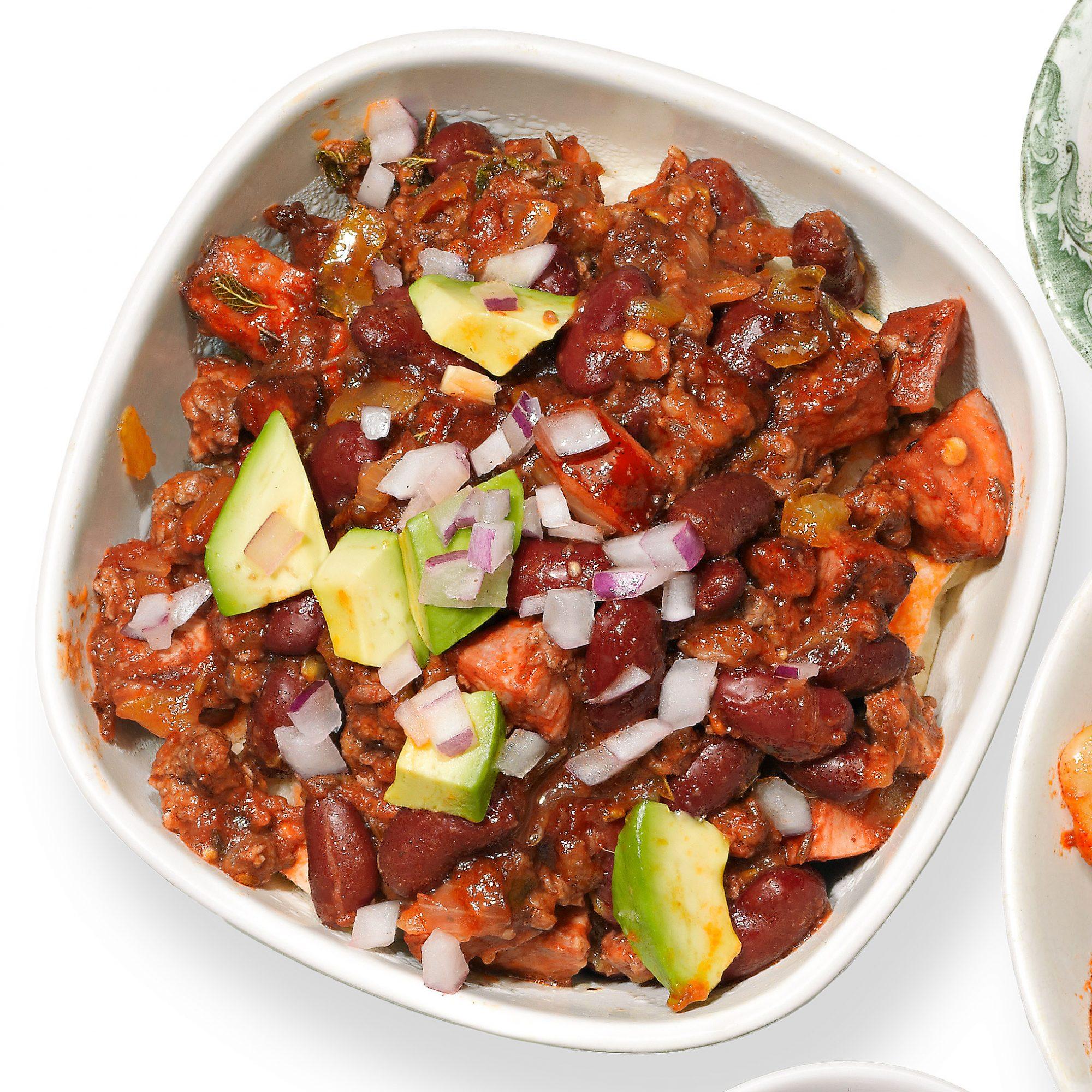 beefy chorizo chili