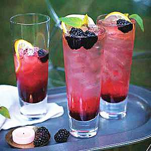 Blackberry Ginger Sour Highballs