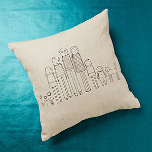 Branch Home customized sketch pillow