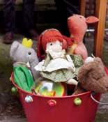bucket of toys