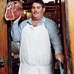 Butcher with Ground Beef
