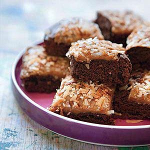 Caramel-Coconut Fudge Brownies