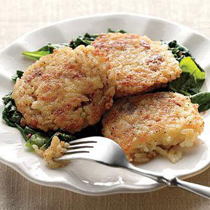 Cheesy Rice Fritters