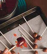 cherry centered lollipops