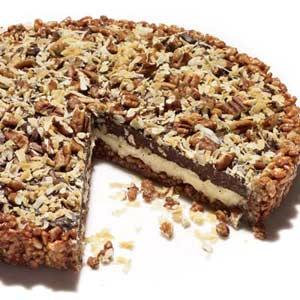 chocolate marshmallow crunch tart