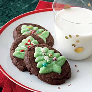 Chocolate-Mint Evergreen Cookies