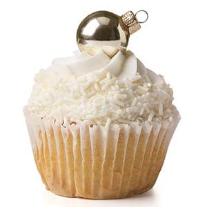 cupcake with ornament