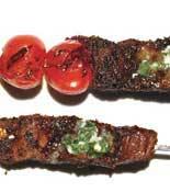 Dry Rubbed Frank Steak Basil Butter