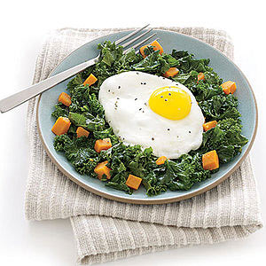 Eggs Over Kale Hash