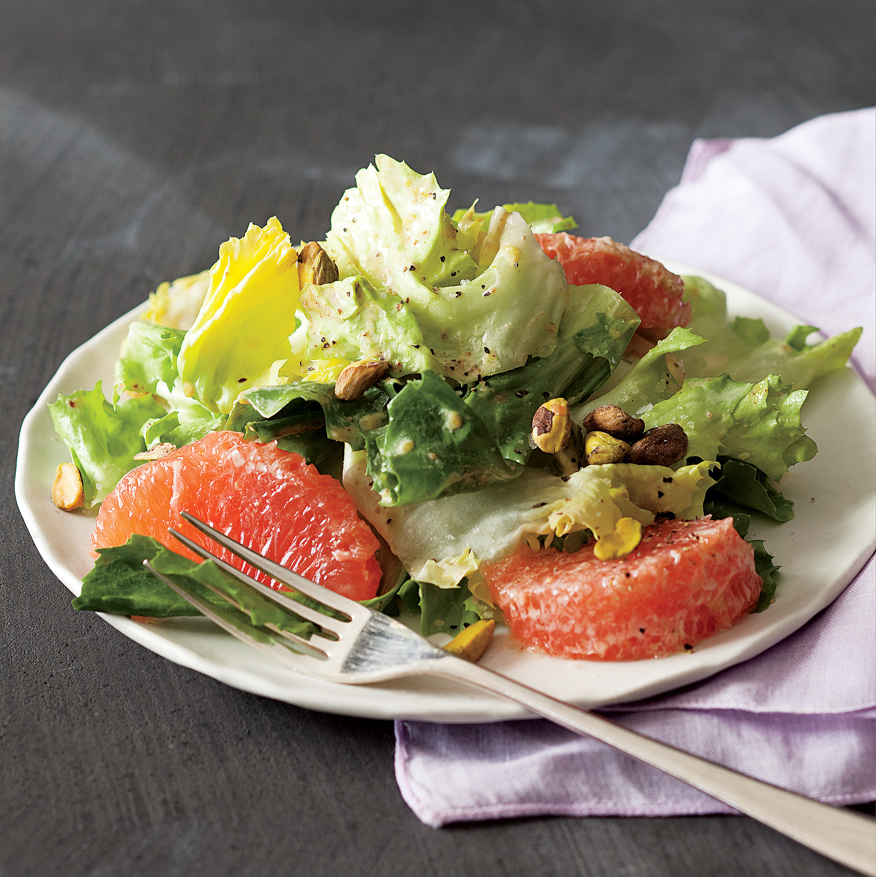 Escarole Salad with Grapefruit & Pistachios