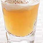 frothy cocktail