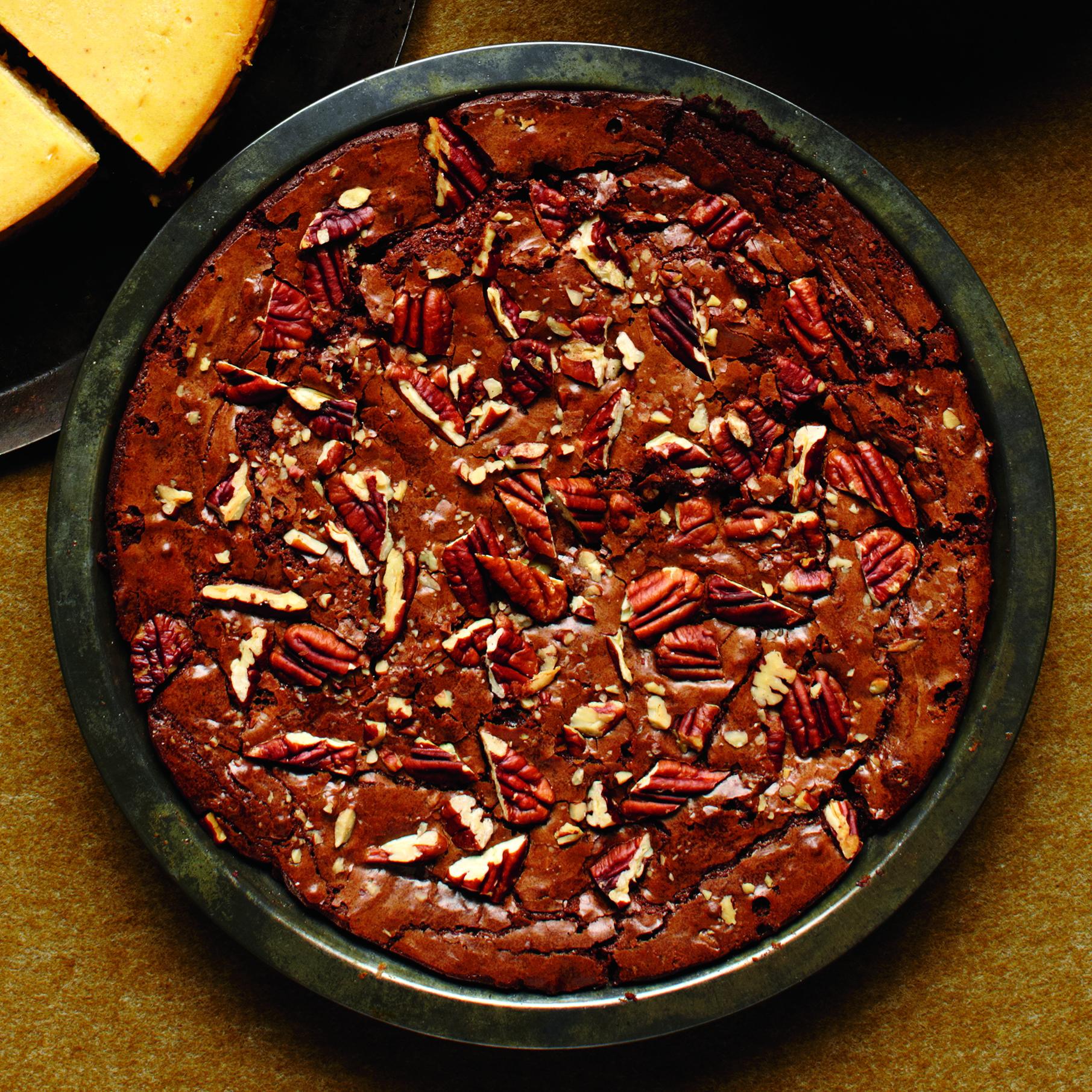 Fudgy Pecan Brownie Pie