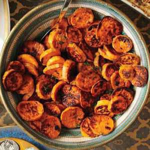 Garlic-Thyme Sweet Potato Rounds