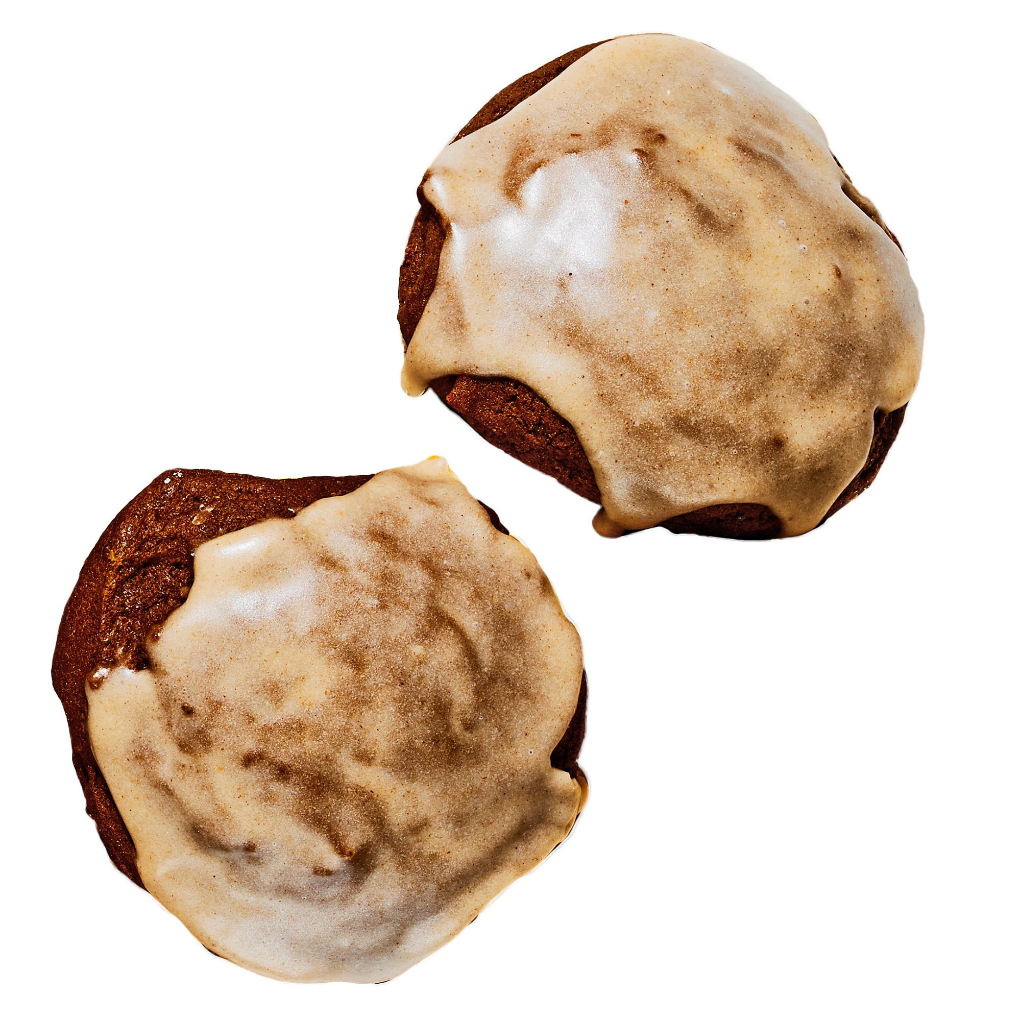 glazed molasses cookies