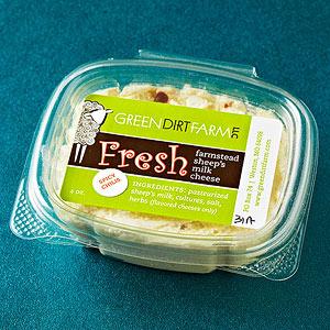 Green Dirt Farm's fresh goat cheese