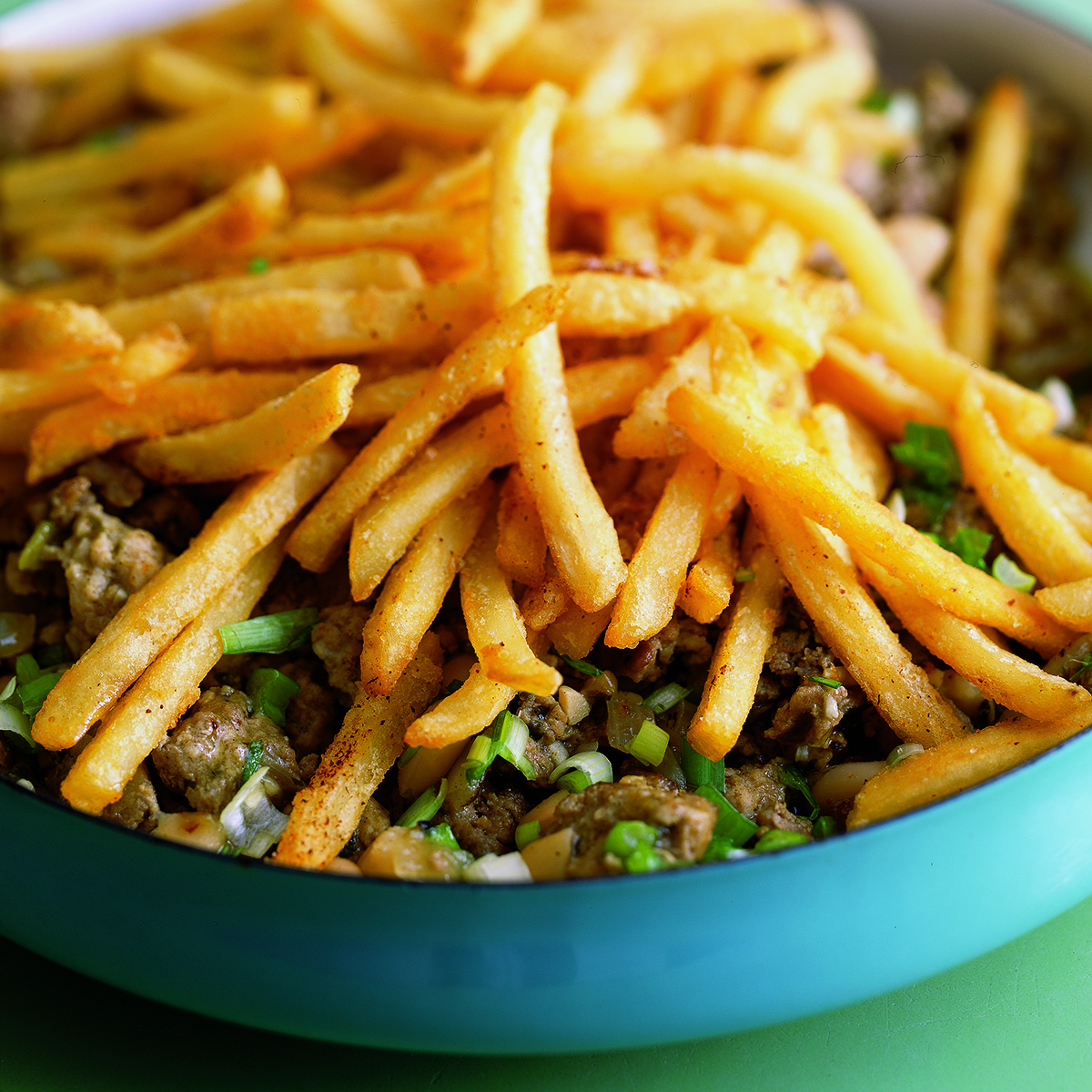 Green Spring Chili and French Fry Pie
