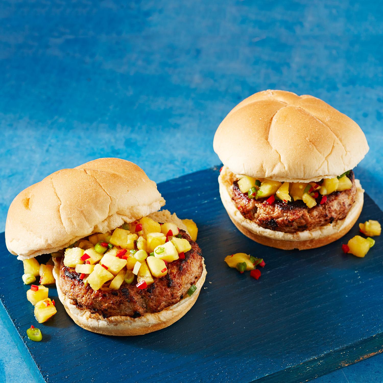 Hawaiian Pork Burgers