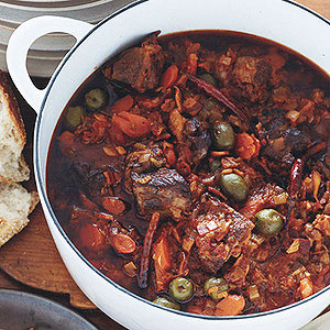Lamb Stew Foggia Style with Olives and Fennel Seeds