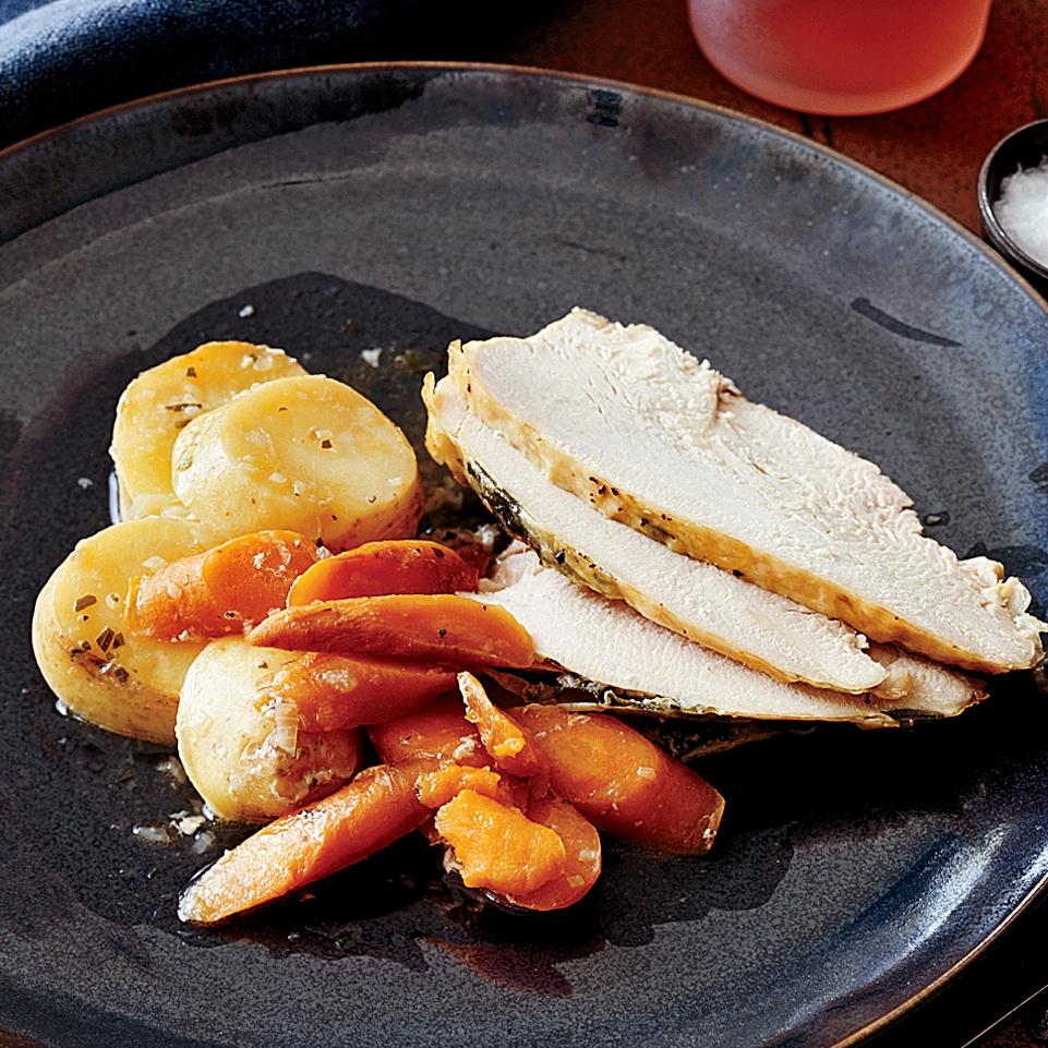 lemon sage turkey with vegetables