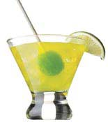 lollipop as cocktail stirrer