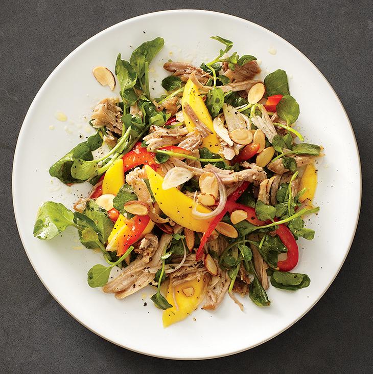 Mango, Pork and Watercress Salad