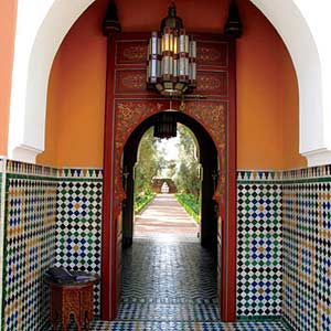 Morocco Garden Archway View