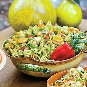 Pasta Salad with Herb Pesto and Peas