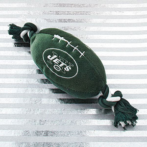 Personalized football dog toy