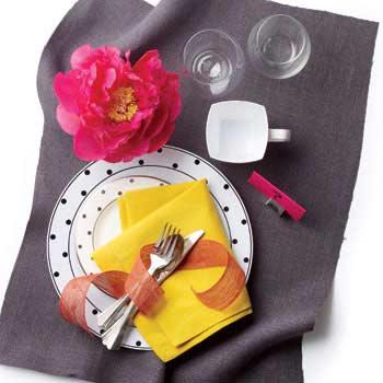 plastic plates and silverware