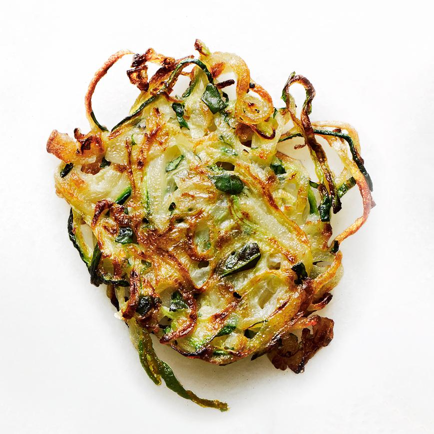 Potato-Zucchini Latkes with Basil