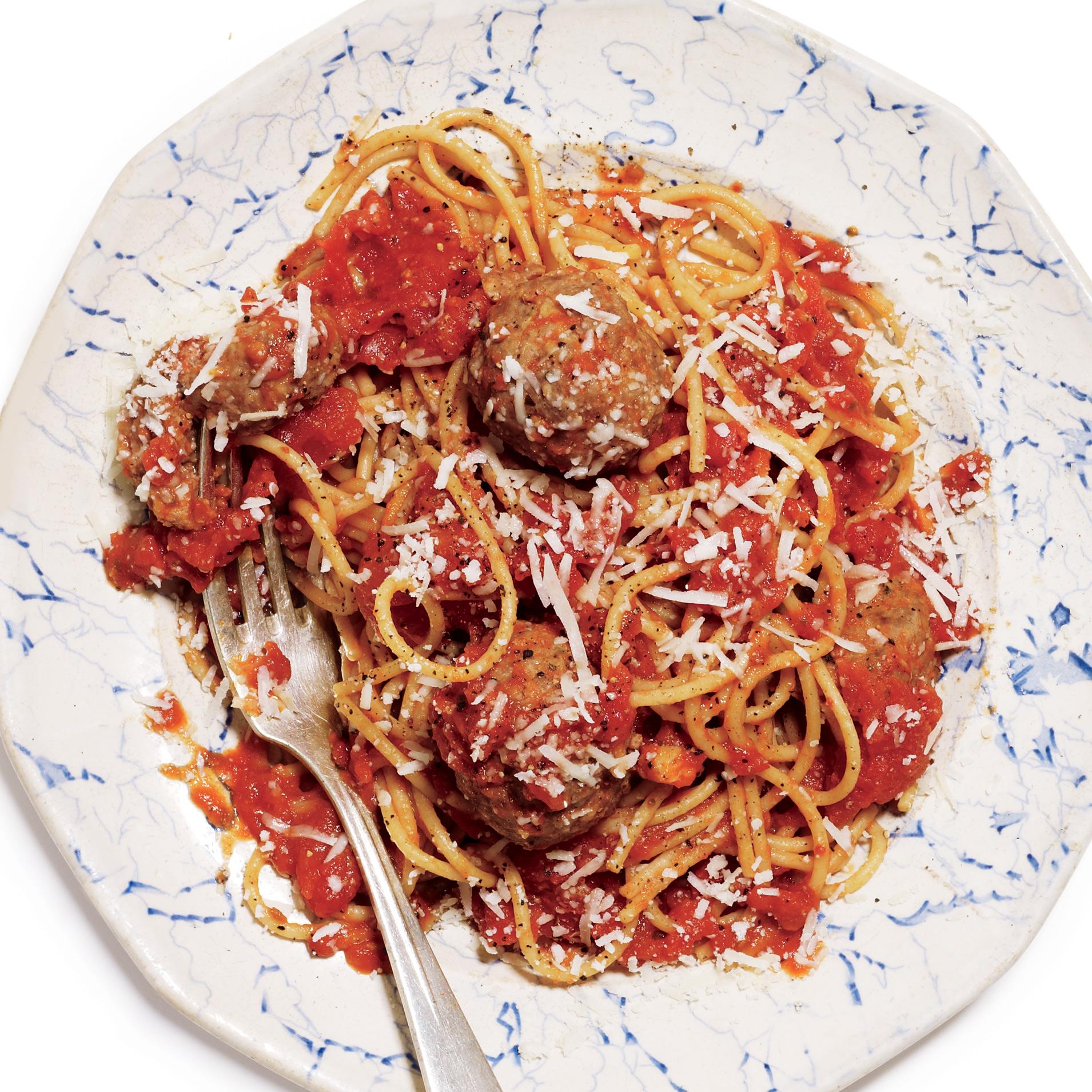 psghetti meatballs