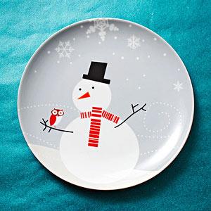 Rachael Ray Lil' Hoot snowman plates